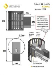 Дровяная печь Везувий Скиф Ковка (220) 20166
